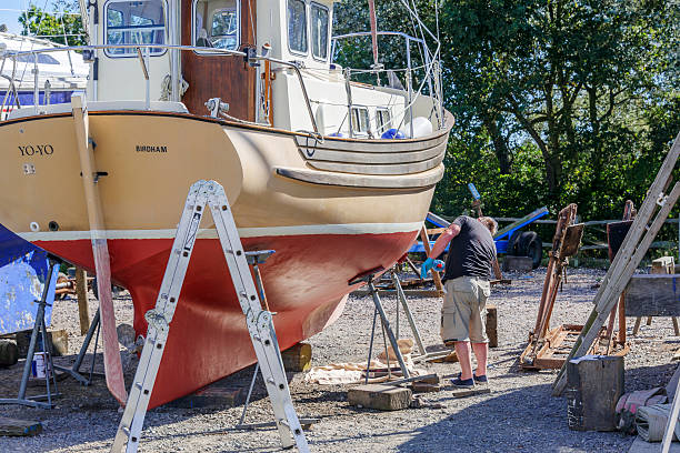 boat in maintaining process